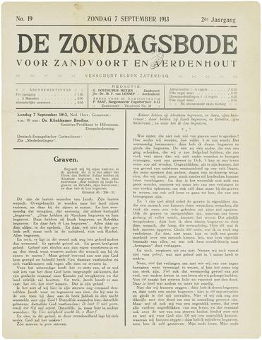 De Zondagsbode voor Zandvoort en Aerdenhout 1913-09-01