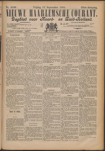 Nieuwe Haarlemsche Courant 1905-09-15
