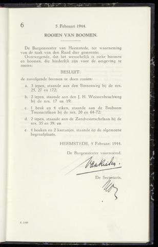 Raadsnotulen Heemstede 1944-02-05