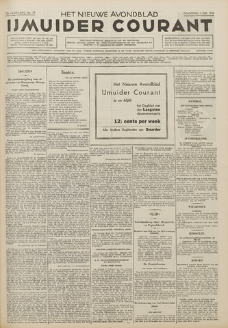 IJmuider Courant 1938-02-03
