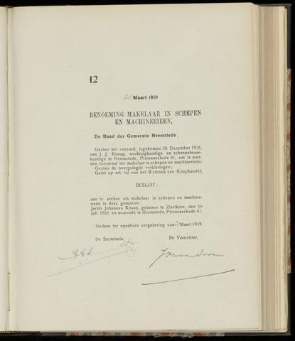 Raadsnotulen Heemstede 1919-03-28