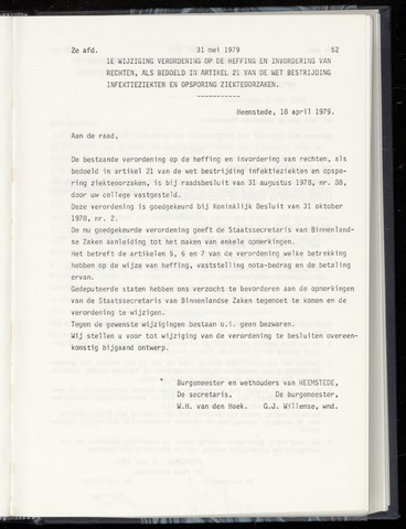 Raadsnotulen Heemstede 1979-05-31