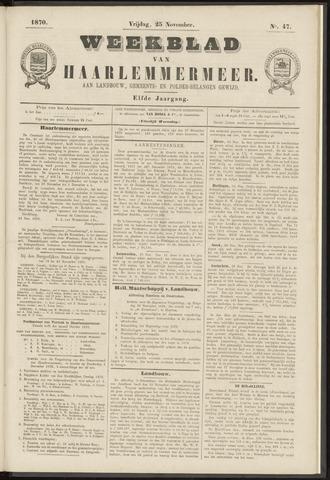 Weekblad van Haarlemmermeer 1870-11-25
