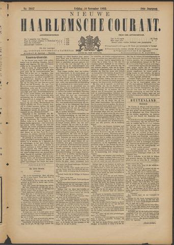 Nieuwe Haarlemsche Courant 1893-11-10