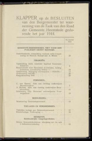 Raadsnotulen Heemstede 1944