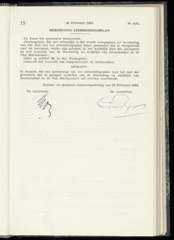 Raadsnotulen Heemstede 1953-02-26