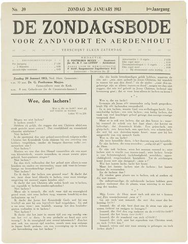 De Zondagsbode voor Zandvoort en Aerdenhout 1913-01-26