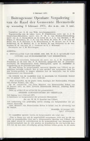 Raadsnotulen Heemstede 1971-02-03