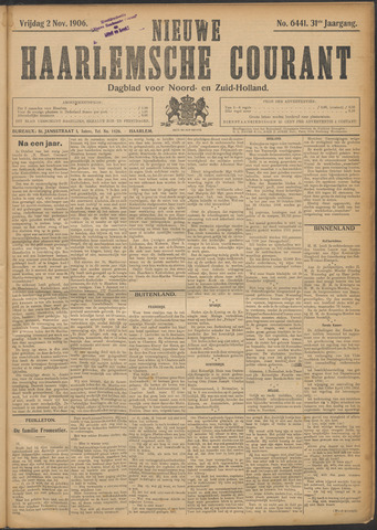 Nieuwe Haarlemsche Courant 1906-11-02
