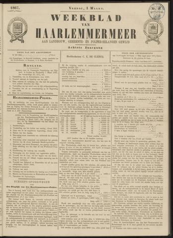 Weekblad van Haarlemmermeer 1867-03-01