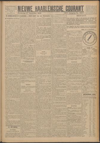 Nieuwe Haarlemsche Courant 1923-09-27