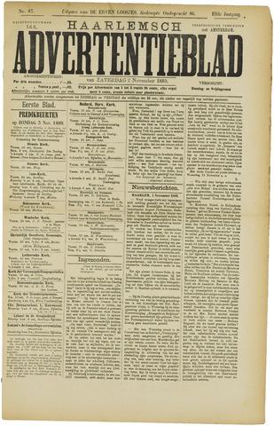Haarlemsch Advertentieblad 1889-11-02