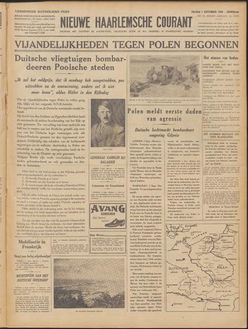 Nieuwe Haarlemsche Courant 1939-09-01
