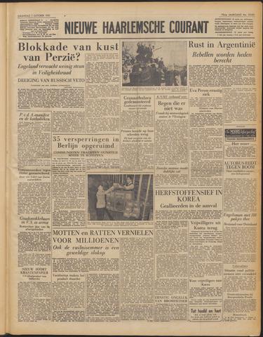 Nieuwe Haarlemsche Courant 1951-10-01