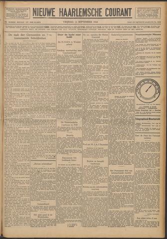 Nieuwe Haarlemsche Courant 1928-09-14