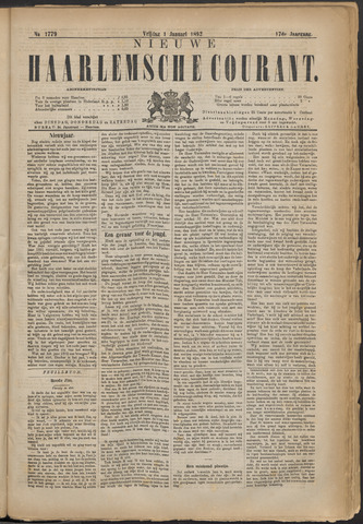 Nieuwe Haarlemsche Courant 1892-01-01