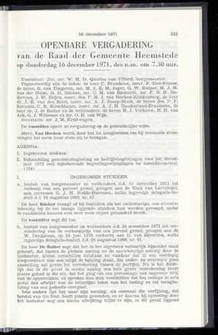 Raadsnotulen Heemstede 1971-12-16