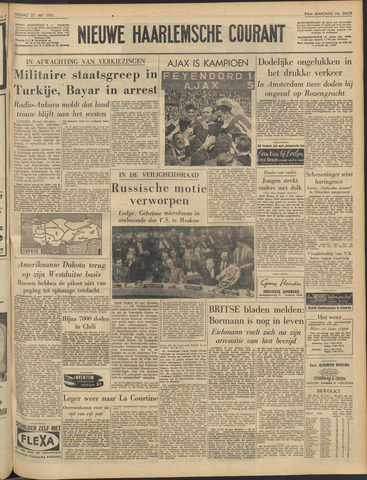 Nieuwe Haarlemsche Courant 1960-05-27