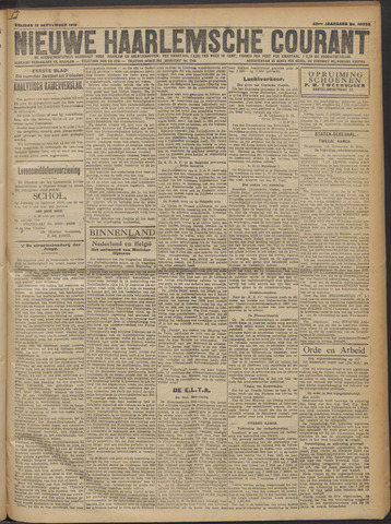 Nieuwe Haarlemsche Courant 1919-09-12