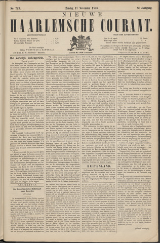 Nieuwe Haarlemsche Courant 1883-11-11