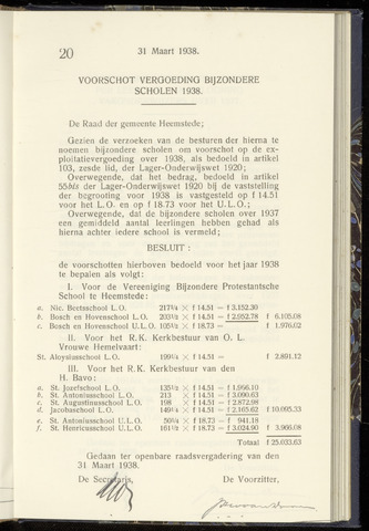 Raadsnotulen Heemstede 1938-03-31