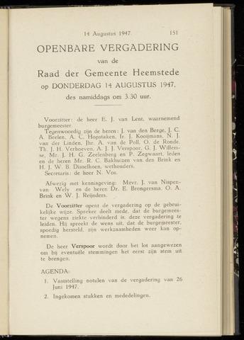 Raadsnotulen Heemstede 1947-08-14