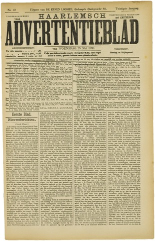 Haarlemsch Advertentieblad 1898-05-25