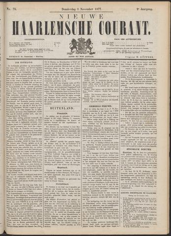 Nieuwe Haarlemsche Courant 1877-11-01