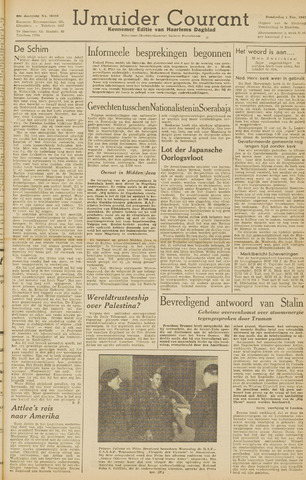 IJmuider Courant 1945-11-01