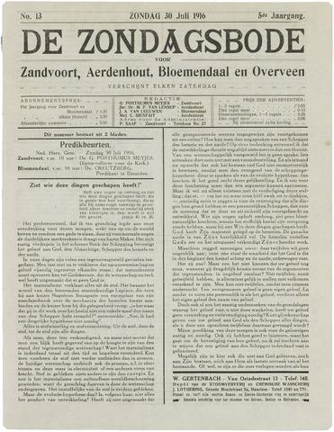 De Zondagsbode voor Zandvoort en Aerdenhout 1916-07-30