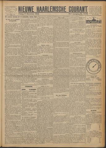 Nieuwe Haarlemsche Courant 1922-11-17