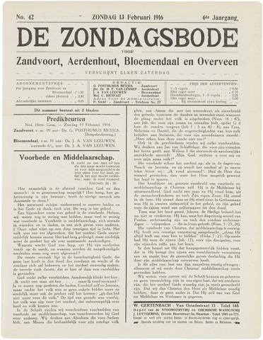 De Zondagsbode voor Zandvoort en Aerdenhout 1916-02-13