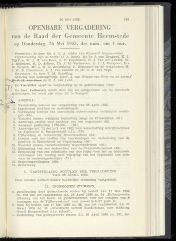 Raadsnotulen Heemstede 1955-05-26