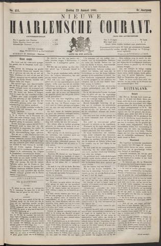 Nieuwe Haarlemsche Courant 1881-01-23