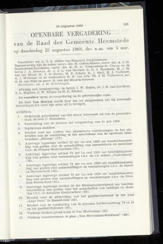 Raadsnotulen Heemstede 1969-08-28
