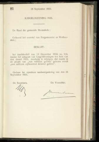 Raadsnotulen Heemstede 1935-09-26