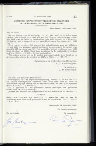 Raadsnotulen Heemstede 1969-11-27