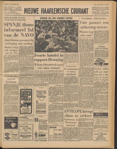 Nieuwe Haarlemsche Courant 1963-09-27