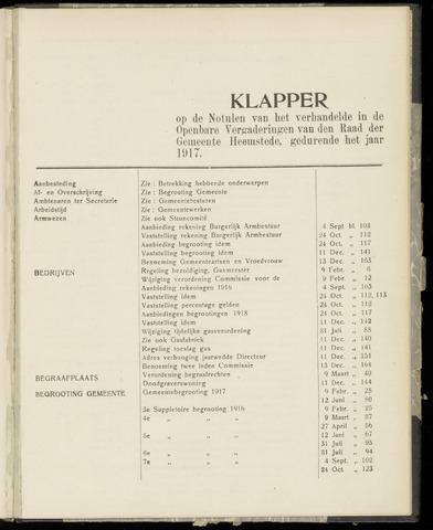 Raadsnotulen Heemstede 1917-01-01