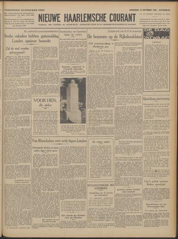 Nieuwe Haarlemsche Courant 1940-09-12