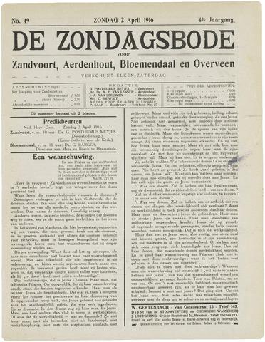 De Zondagsbode voor Zandvoort en Aerdenhout 1916-04-02