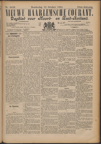 Nieuwe Haarlemsche Courant 1905-10-12