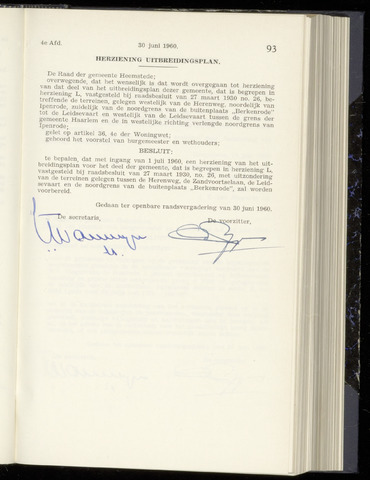 Raadsnotulen Heemstede 1960-06-30