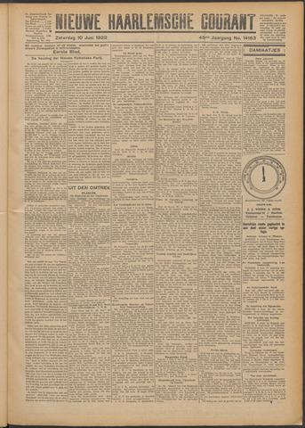 Nieuwe Haarlemsche Courant 1922-06-10