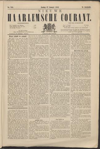 Nieuwe Haarlemsche Courant 1884-01-27