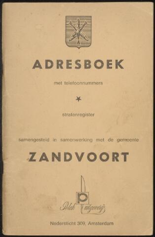 Adresboeken Zandvoort 1969