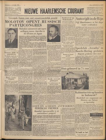 Nieuwe Haarlemsche Courant 1952-10-06