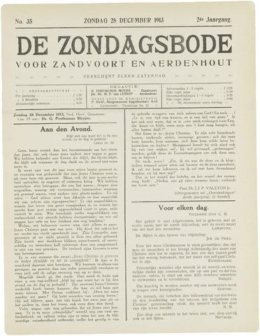 De Zondagsbode voor Zandvoort en Aerdenhout 1913-12-28