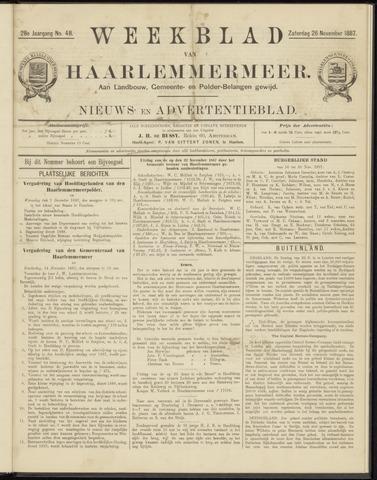 Weekblad van Haarlemmermeer 1887-11-26