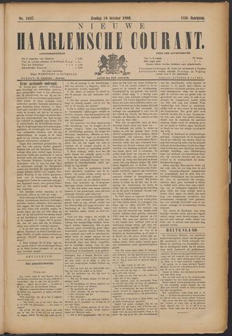 Nieuwe Haarlemsche Courant 1886-10-10